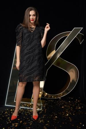 Платье М2197ч Размеры 44-48
